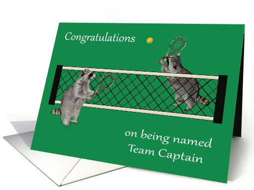 Congratulations On Being Named Team Captain Tennis