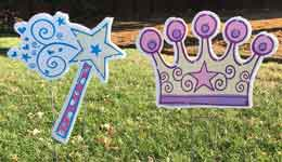Princess decorations, Greetings by the Yard, Flamingo Surprise, Cards by the Yard