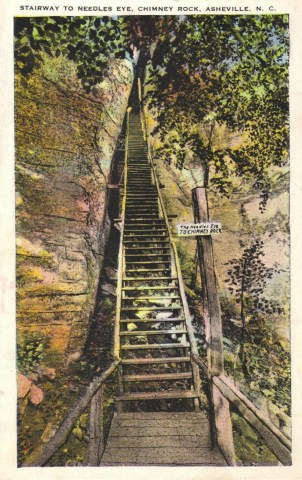 Stairway to Needles Eye, Chimney Rock