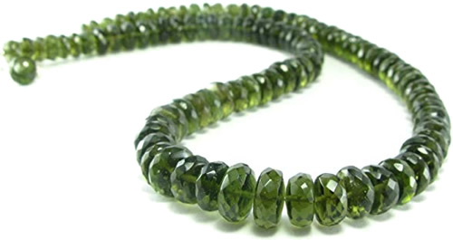 Faceted Moldavite Beads - Moldavites are unique. Unlike other tektites, moldavites can be cut into beautiful gemstones. Mysterious Moldavite – Greetings from the Past