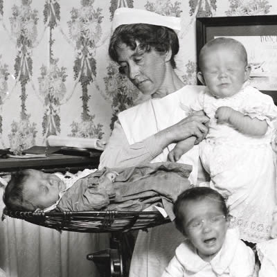 Bourke St Baby Clinic, Sydney 1914 - Dr. D. L. Smith's Baby Hospital, Saluda, NC – Greetings from the Past