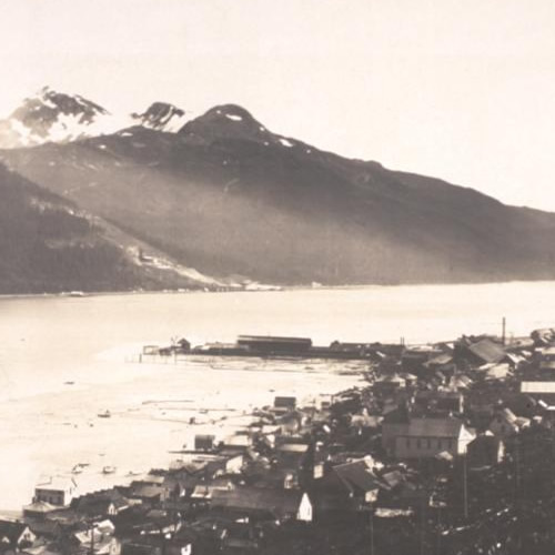 1914 Panoramic photograph of Douglas, Alaska Photograph by F. W. Sheelor
