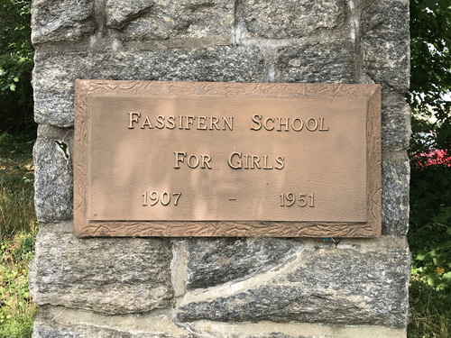 Column off Fleming Street in Hendersonville Fassifern School For Girls 1907 - 1951