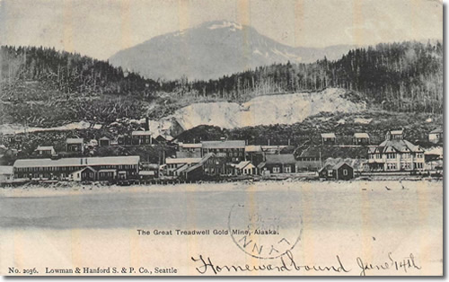 Postcard of The Great Treadwell Gold Mine, Alaska