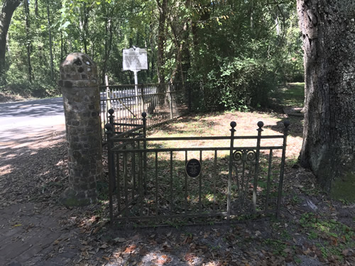 Gate to Old Sheldon Church Ruins