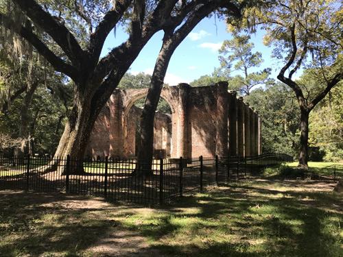 Back of Old Sheldon Church Ruins