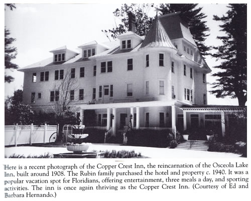 Photo of the restored Osceola Lake Inn from Hendersonville in the Images of America series by Galen Reuther and Lu Ann Welter