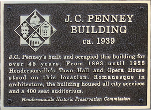Site of Hendersonville's Town Hall and Opera House