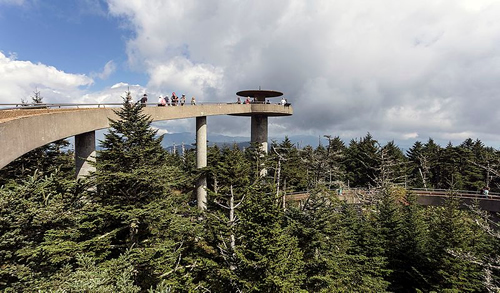Observation Tower at Clingmans Dome Photo by Acroterion, Wikimedia Commons