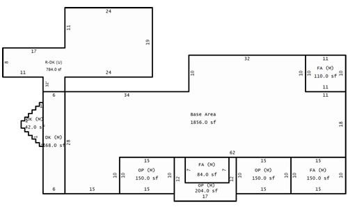 Indian Cave Lodge footprint