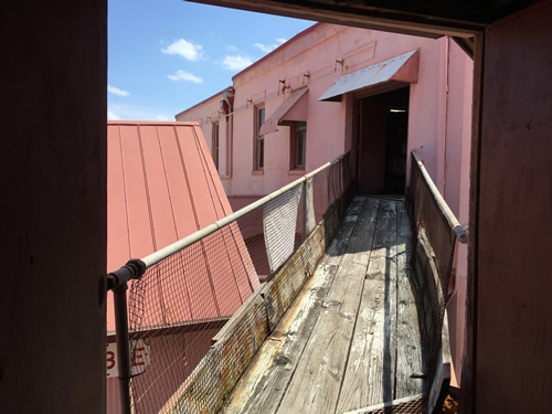 Boardwalk between the upstairs of the buildings in Travis Hardware, Cocoa Florida