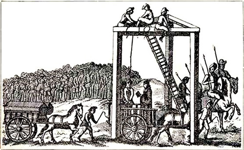 Tyburn Gallows, where Marble Arch now stands C. 1680 16/376 United Kingdom National Archives