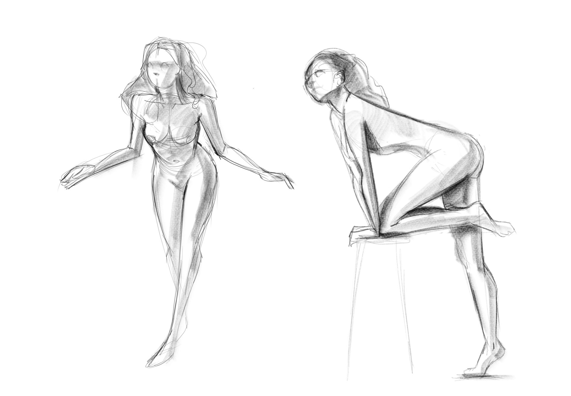 Gesture drawings from Croquis Cafe.