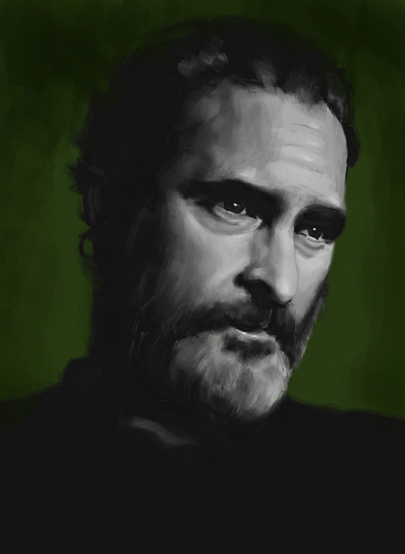 Joaquin Phoenix portrait study from photo reference.