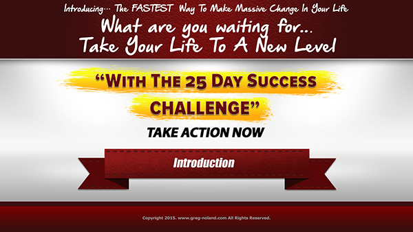 The 25 Day Success Challenge Introduction