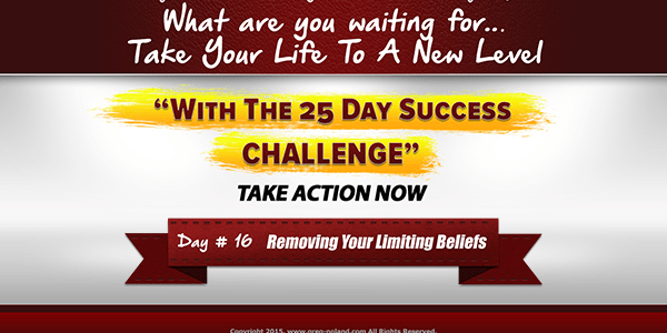 Day 16 of the 25 day success challenge