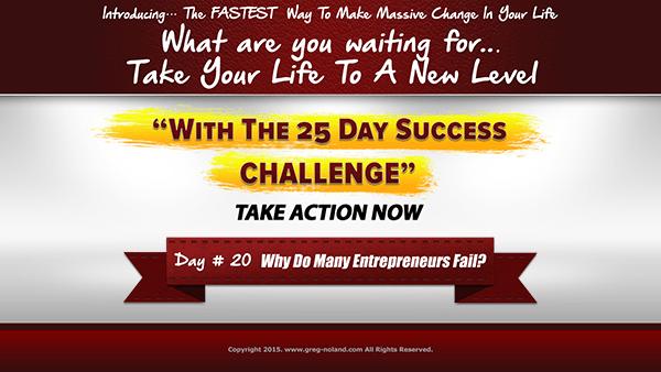 Day 20: Why Do Many Entrepreneurs Fail?