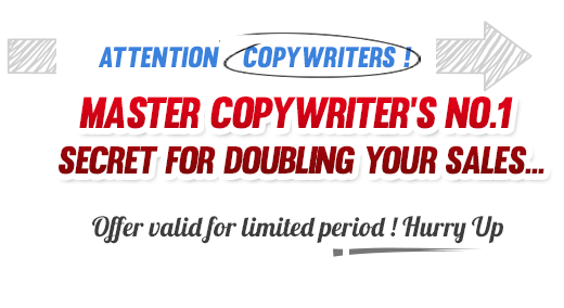 Master Copywriter's No.1 Secret for DOUBLING Your Sales…