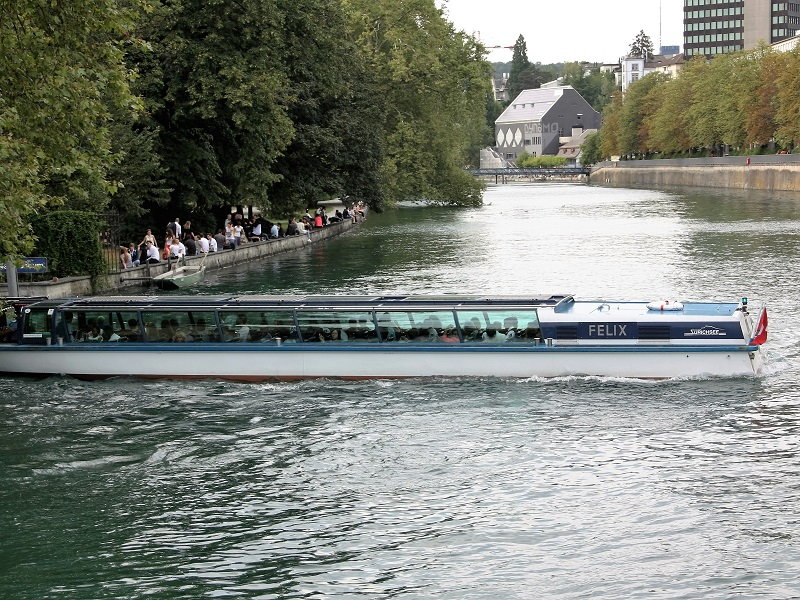 Zurich river and Lake boat trip