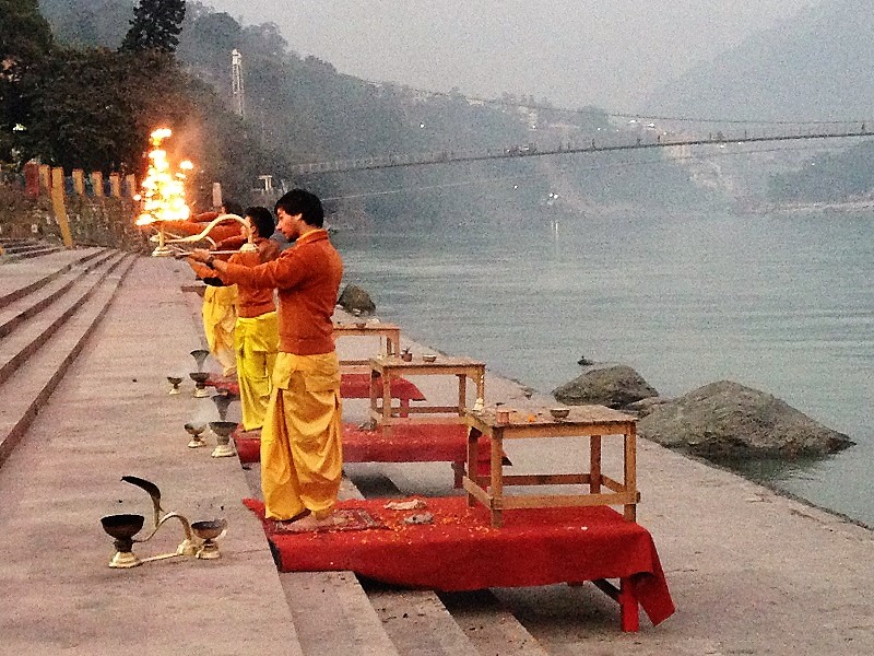 Ganga aarti ceremony in Rishikesh