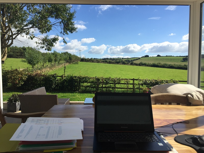 A chance to get some work done with a gorgeous view while on a house-sitting assignment