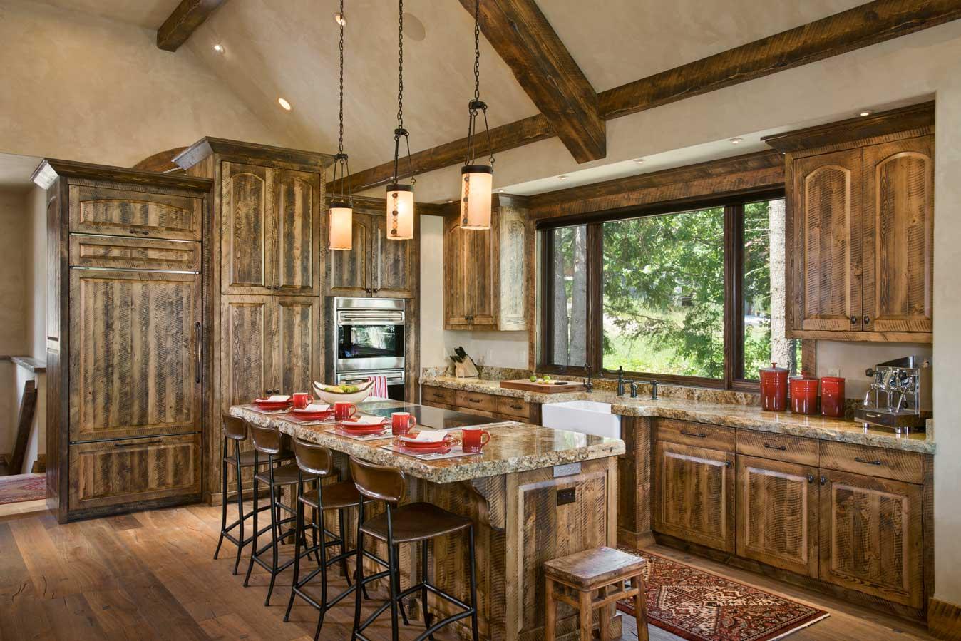 Whitefish Builders Montana Custom Rustic Elegance on Rustic:fkvt0Ptafus= Farmhouse Kitchen  id=52065