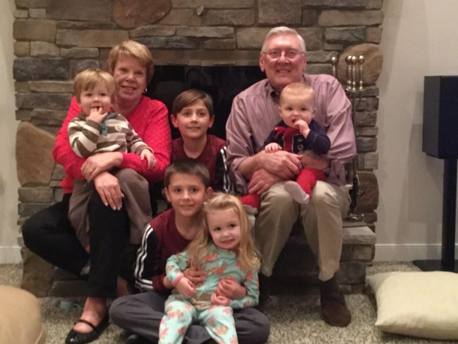 Christmas 2015 Grandma, Gagi & Kids