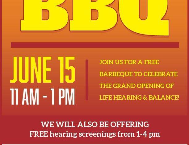 Life Balance & Hearing Grand Opening BBQ Flyer
