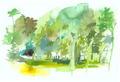 Greg Betza_Central Park Watercolor