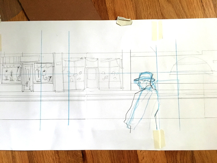 Large scale thumbnail drawing