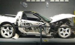 A car, crash tested inside the box.