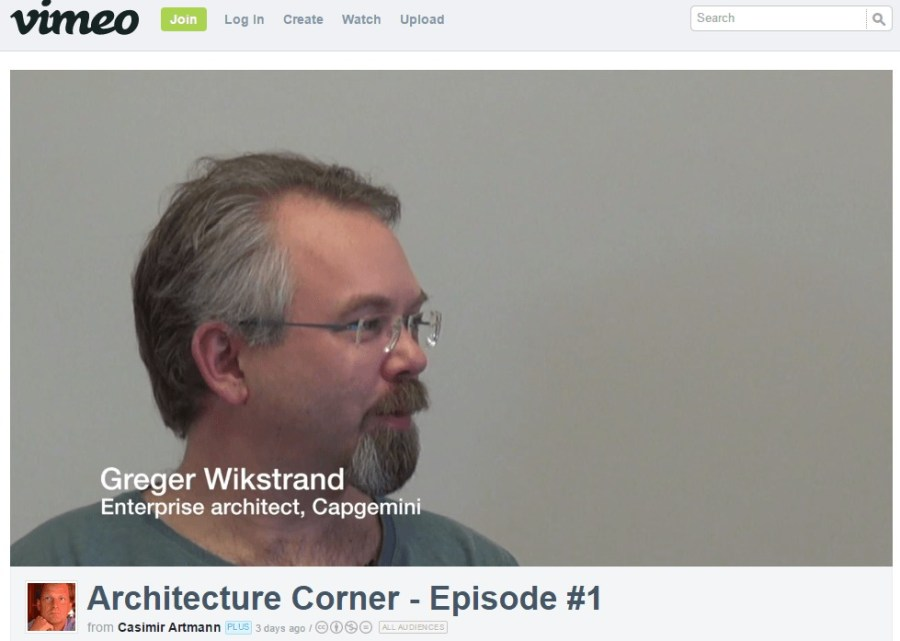 "Greger Wikstrand is a guest on Casimir Artmann's show ""Architecture Corner"""