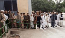 Voters queuing in western Herat