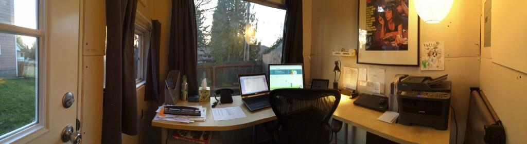 Inside the shed office greg moore pdx for Shed office combo