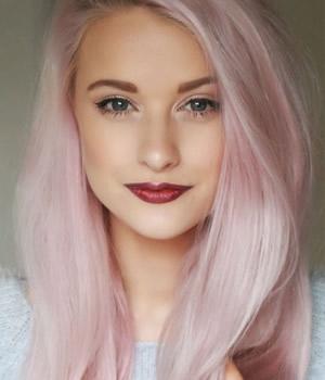 Rosa chicle color de pelo de moda