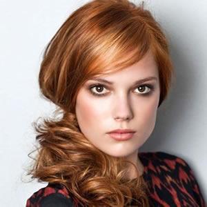 color de pelo de moda, color cobrizo
