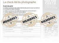check-list du photographe