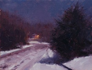 """January Moonlight,"" by Marc Hanson (painted last night, too!)"