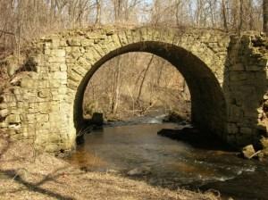The Old Stone Bridge over Brown's Creek near Stillwater, Minnesota