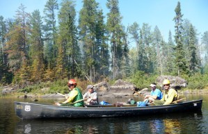 Forest Service rangers helping with public safety in the popular Lake One-Lake Two area.