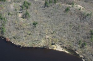 Site where polluted stream flows into the St. Croix River