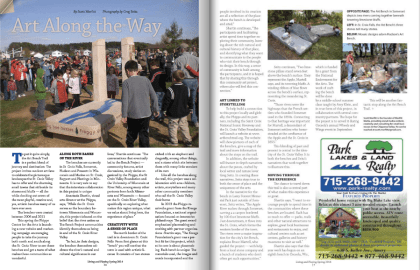 Living and Playing magazine - Art Bench Trail feature