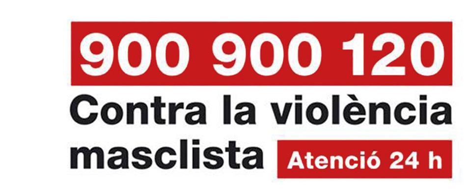 Acord de col•laboració en contra de la violencia masclista per divulgar la línia 900 900 120