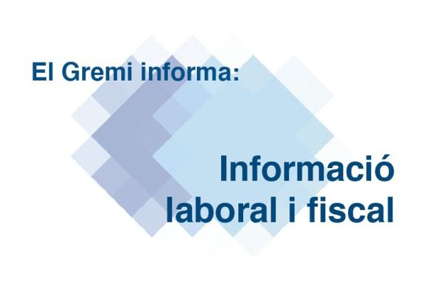 Informació laboral i fiscal
