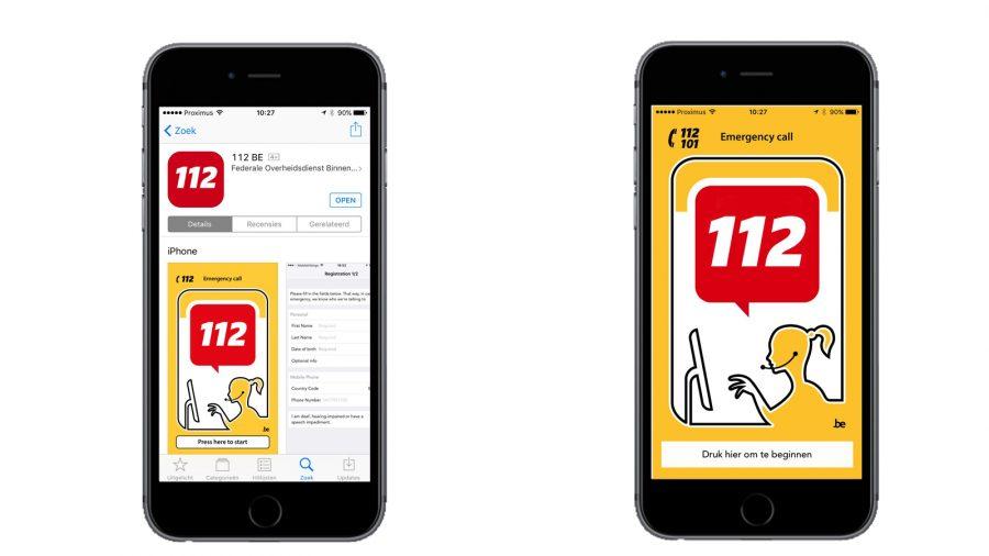 De Europese 112-dag in België in het teken van de App 112 BE