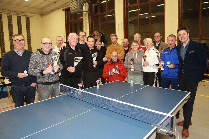1e clubkampioenschap van pingpongclub TTC Wervik