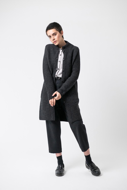 Strickmantel Elliana Grenzgang Slow Organic Fashion