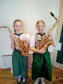 Saxophon-Lena´s (v.l.): Marlene Krehan, Helena Schiner