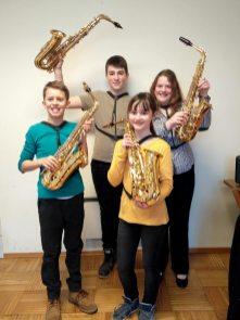 Ensemble Saxofanten (v.l.): Felix Tiller, Philipp Stumpf, Sabrina Spitaler, Alexandra Tree