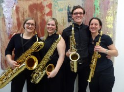 "Saxophon-Quartett ""Saxophonics"": (v.l.) Julia Habrina, Michalea Wimmer, Stefan Stift, Stephanie Bauer"